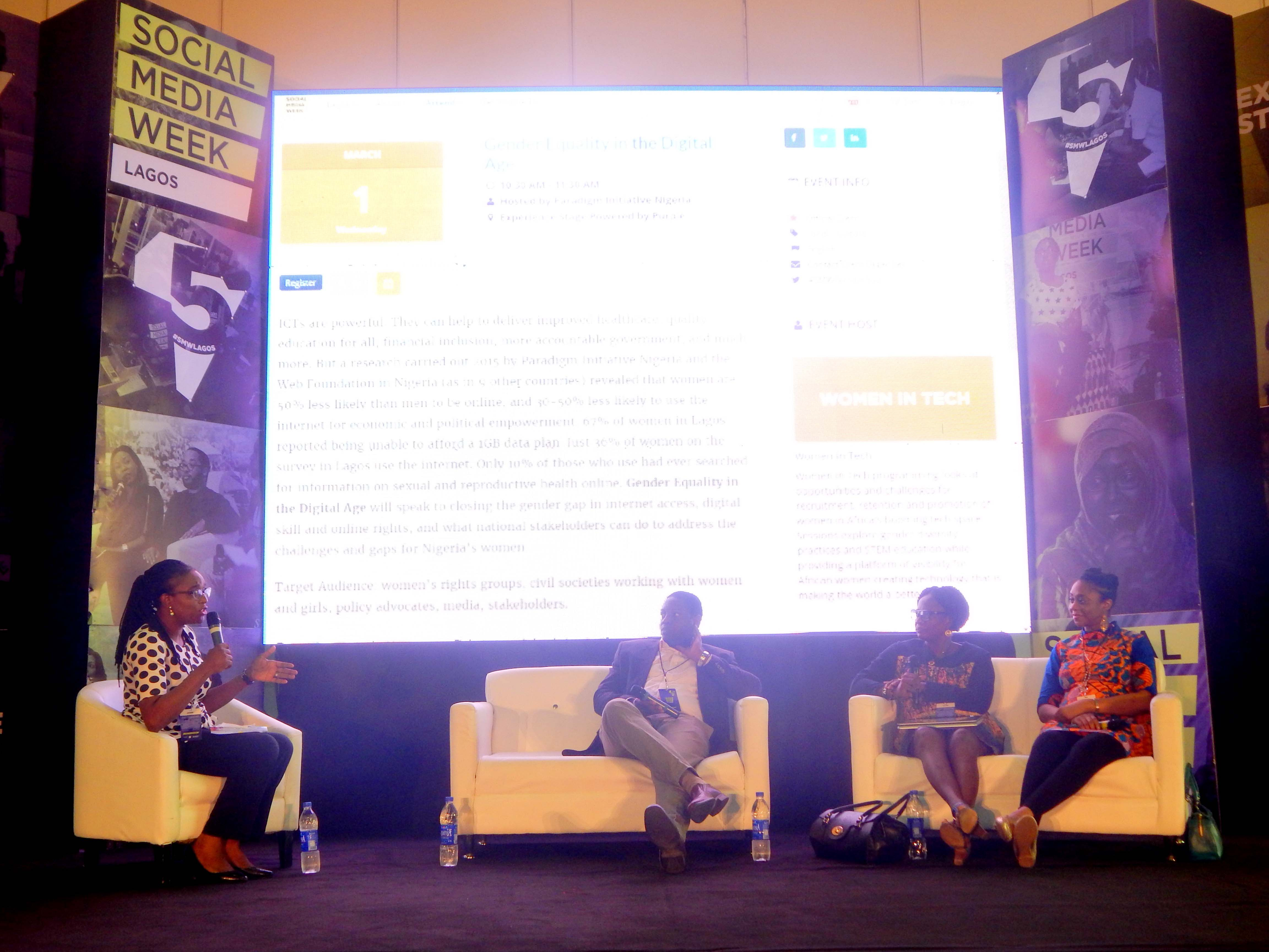 Event Report: Gender Equality in the Digital Age at Social Media Week Lagos 2017