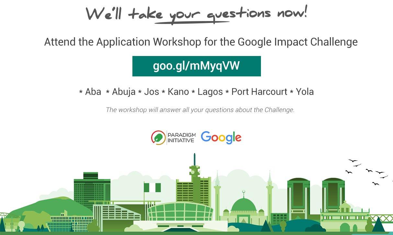 Google Impact Challenge: Application Workshop