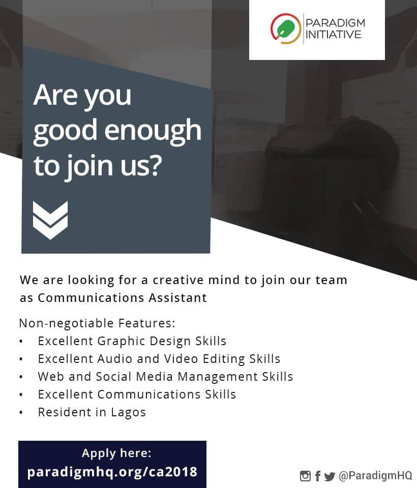 Vacancy: Communications Assistant