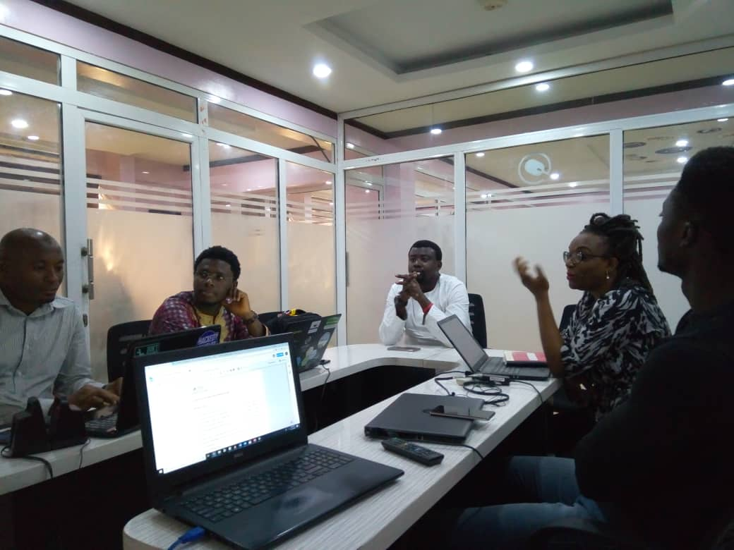 Fellows and Paradigm Initiative Staff at the Orientation Program for 2018 Media Fellows