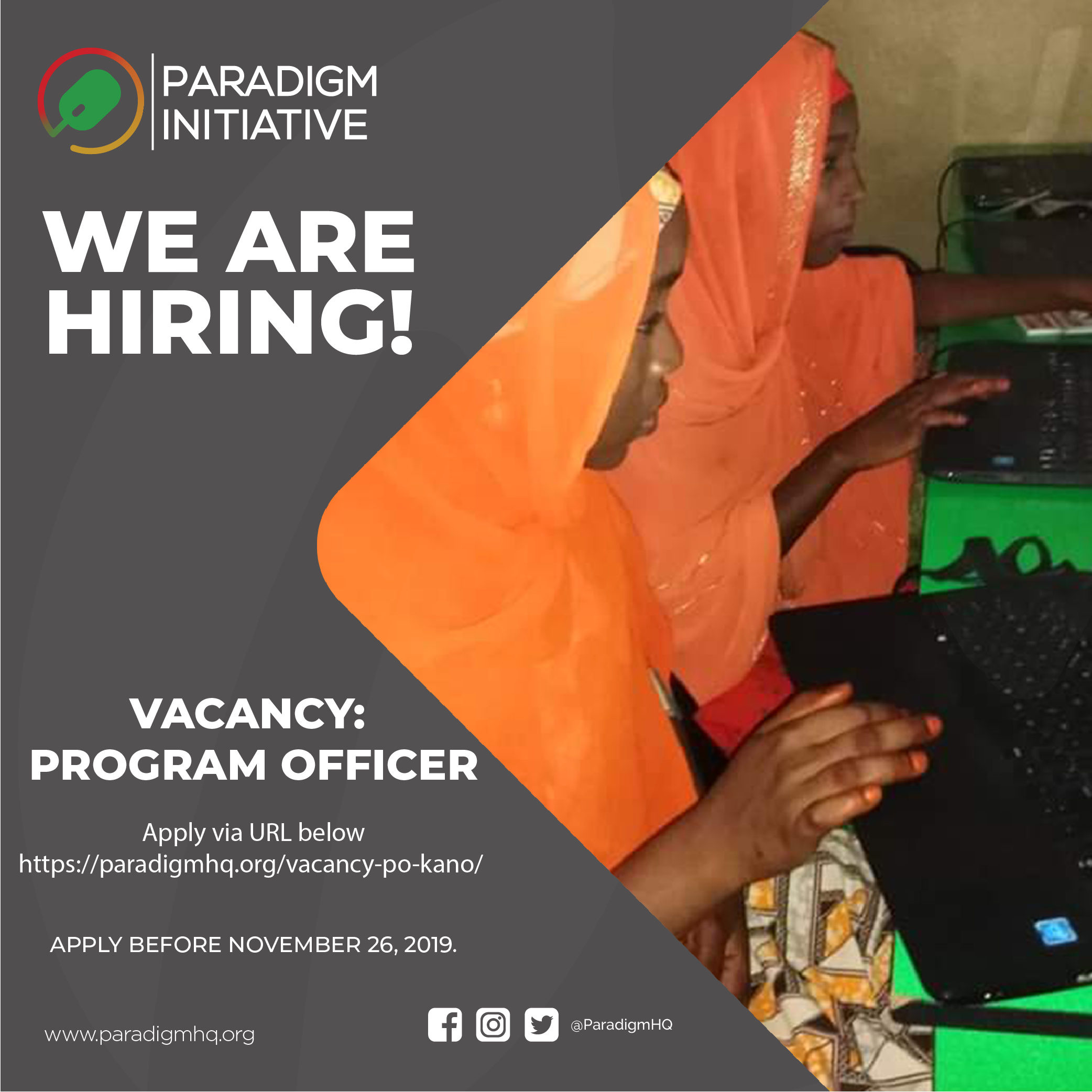 Vacancy: Program Officer (Kano, Nigeria)