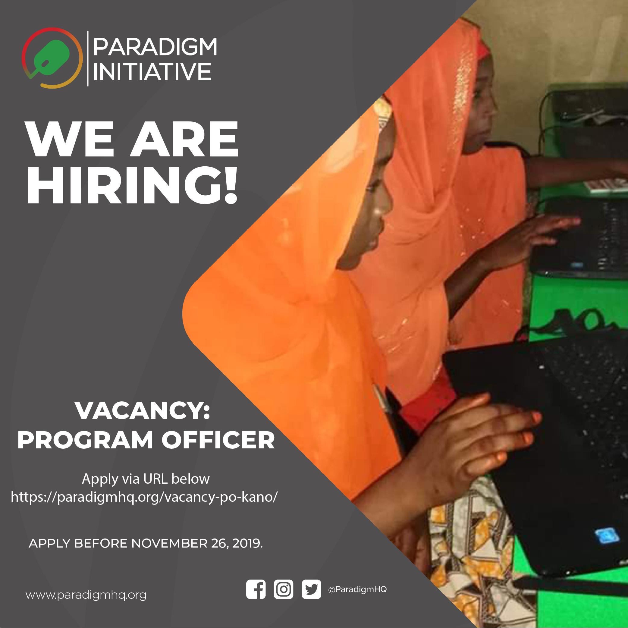 Vacancy: Program Officer (Kano, Nigeria)