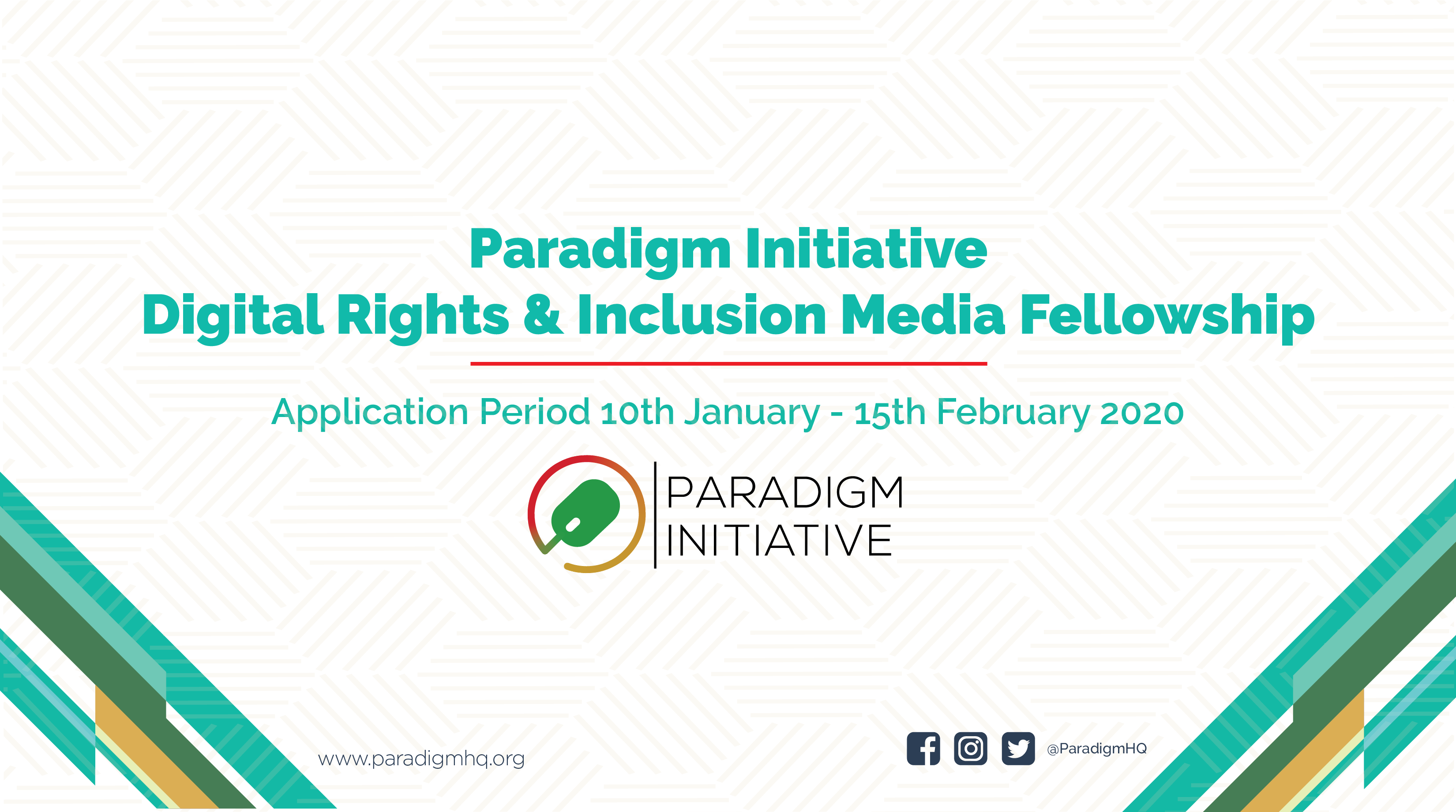 Paradigm Initiative Digital Rights and Inclusion Media Fellowship 2020