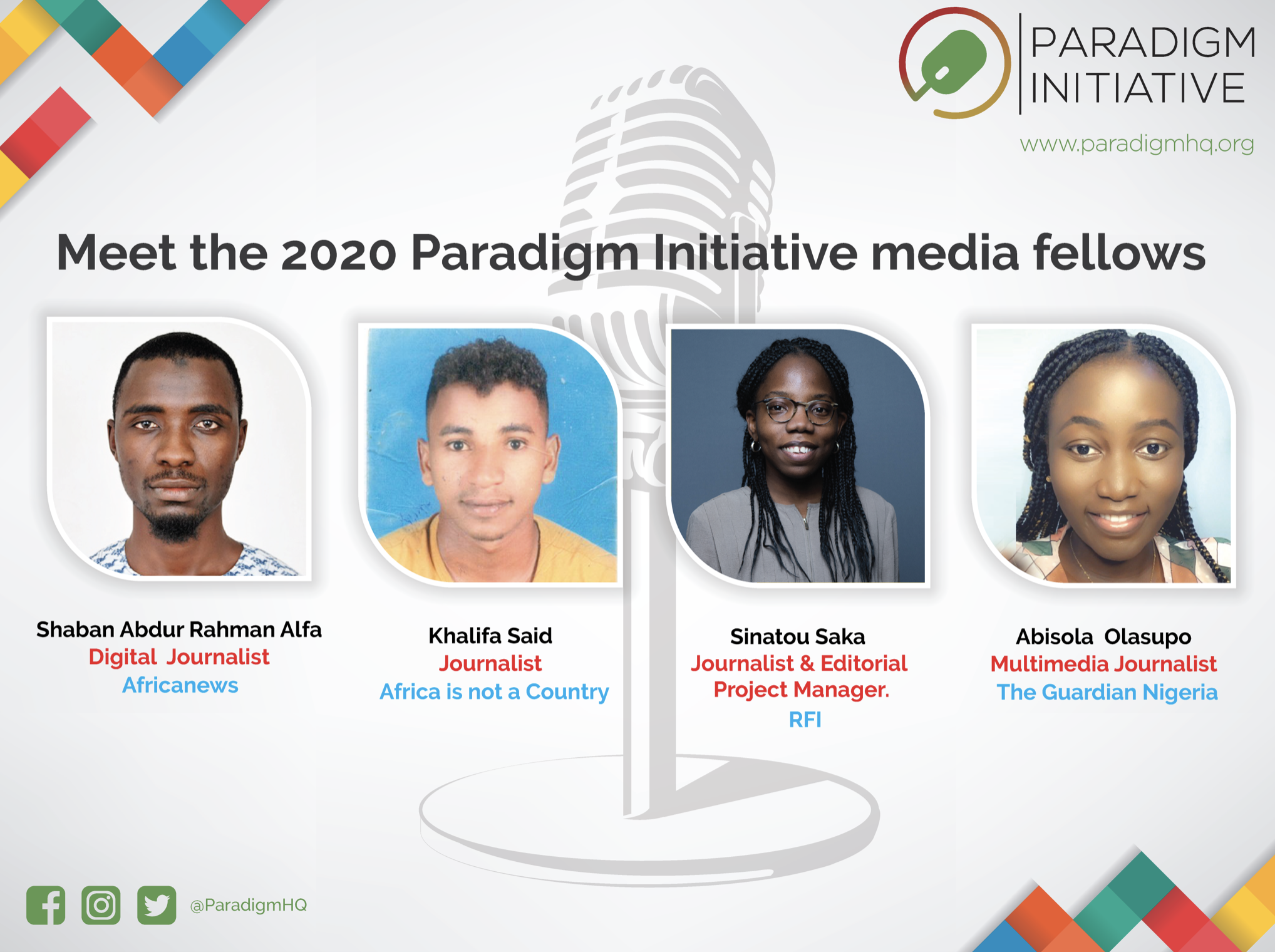 Paradigm Initiative announces 2020 Digital Rights and Inclusion Media fellows