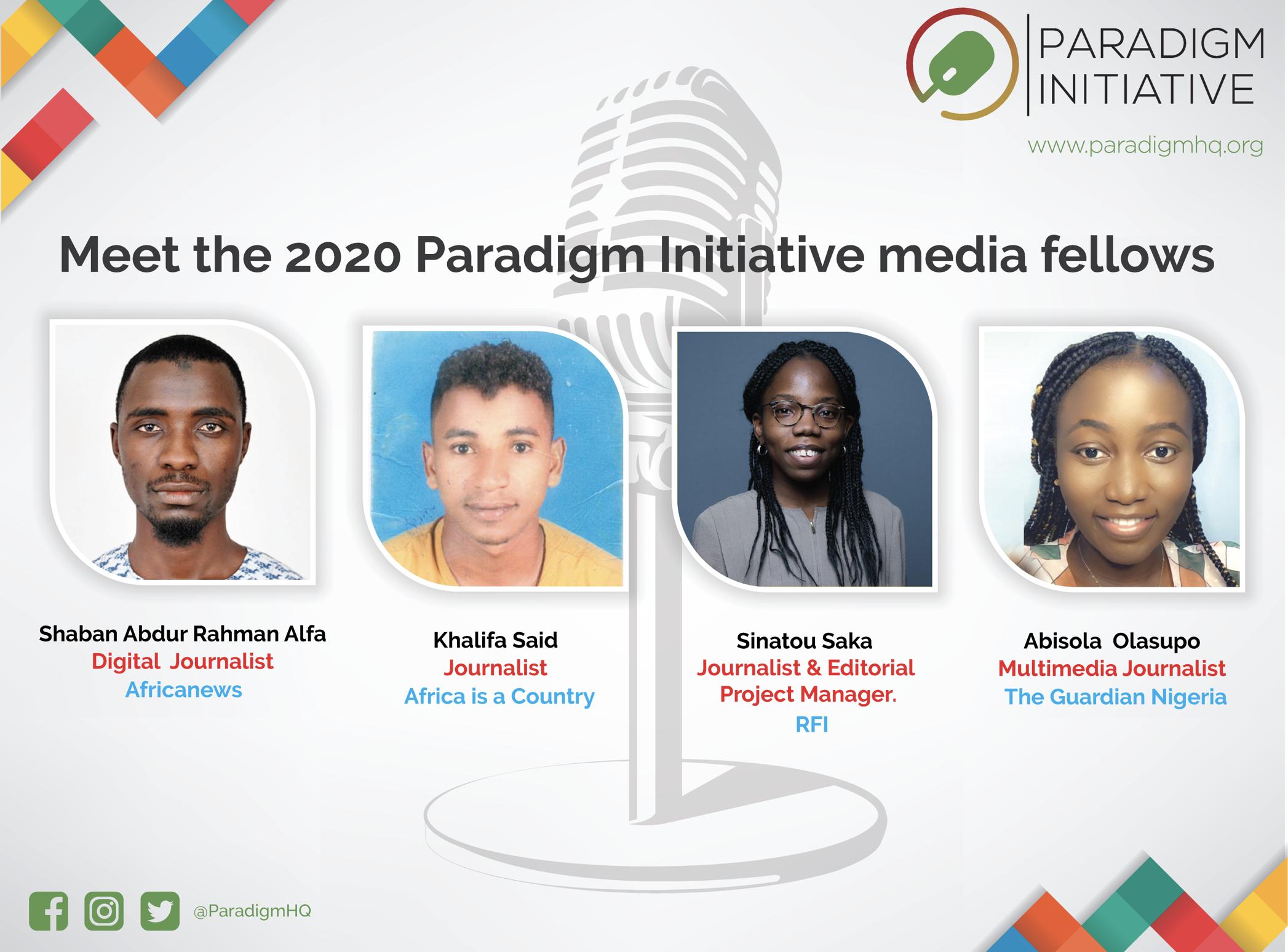 Paradigm Initiative annonce les lauréats 2020 de la bourse pour les journalistes africains