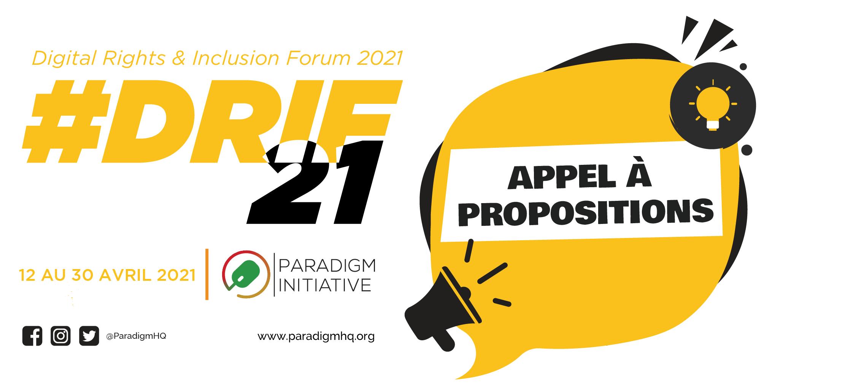 Festival multi-pays DRIF21 : Appel à propositions de session!