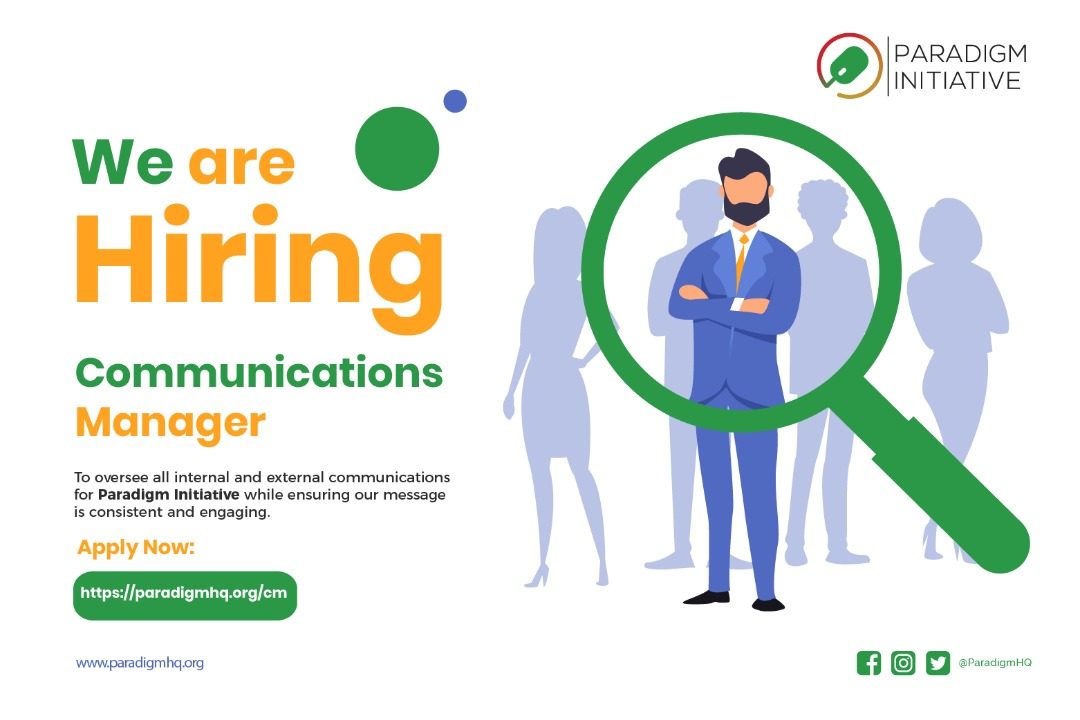 Vacancy: COMMUNICATIONS MANAGER