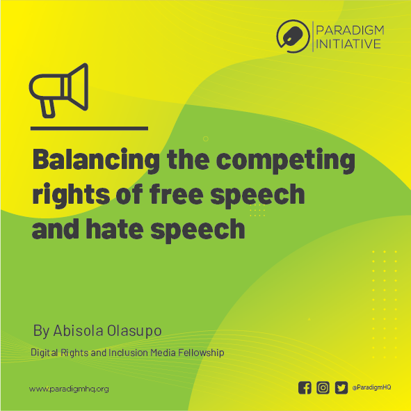 Balancing the competing rights of free speech and hate speech