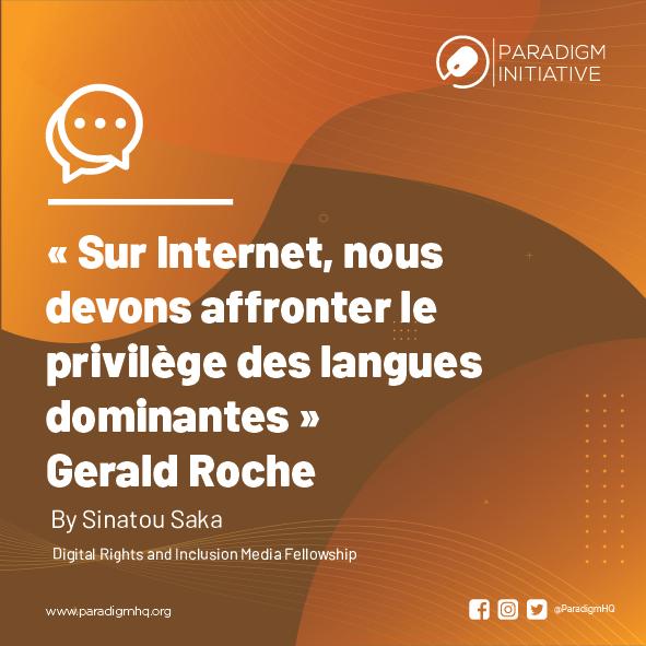 « Sur Internet, nous devons affronter le privilège des langues dominantes » Gerald Roche