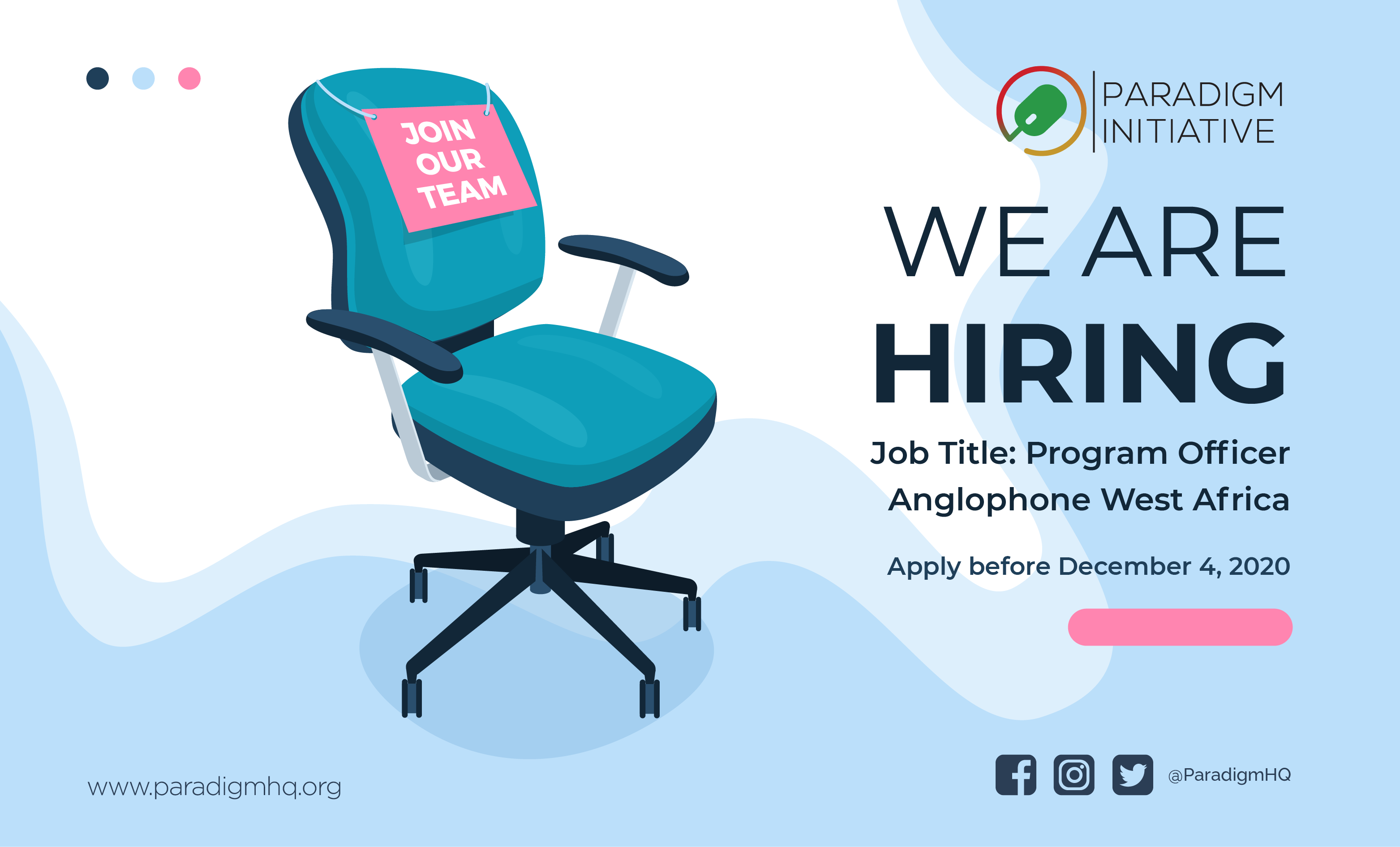 Vacancy: Program Officer – Anglophone West Africa