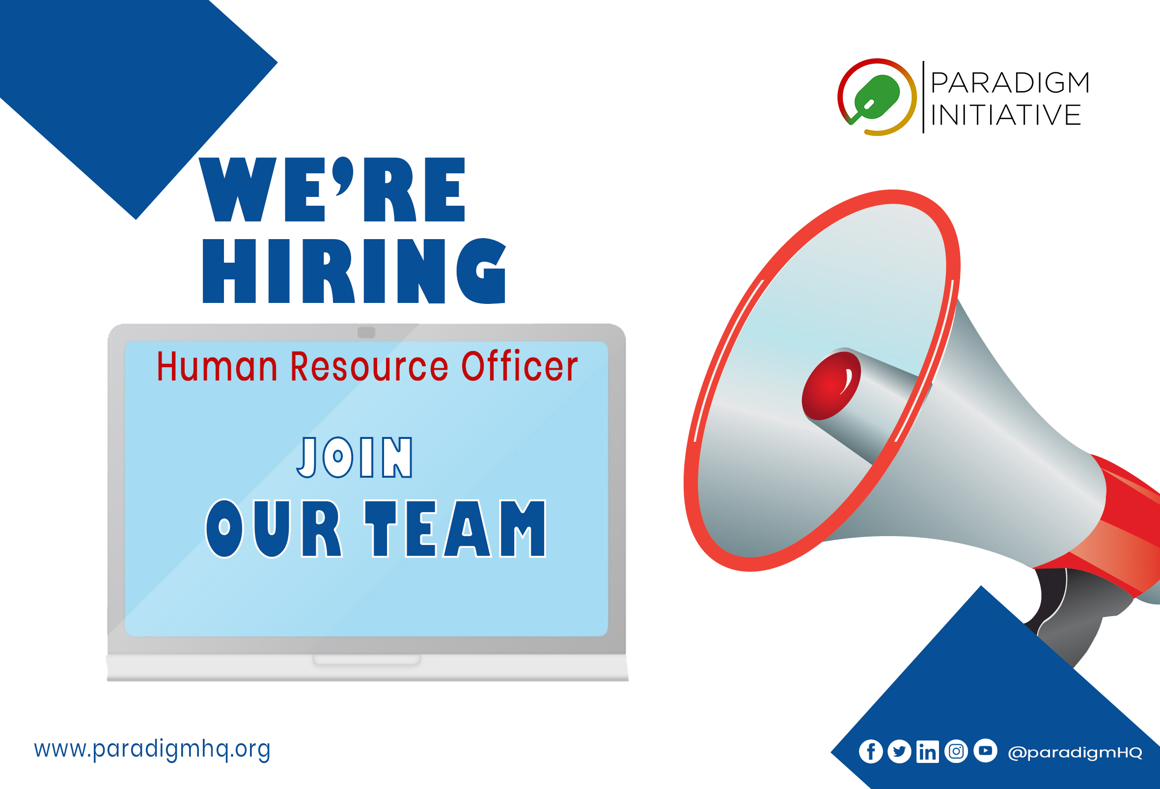 Vacancy – Human Resource Officer