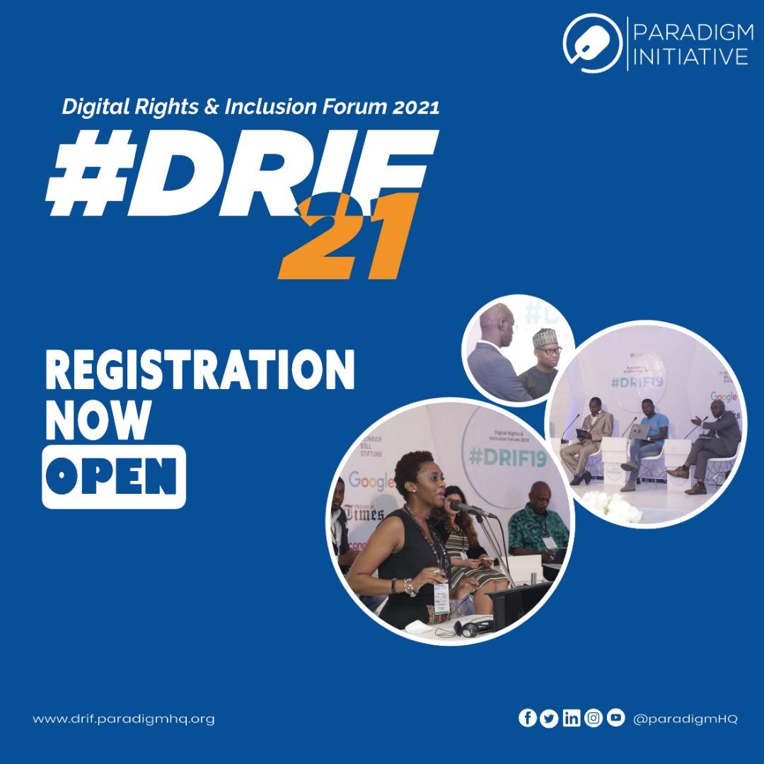 Press Release: Paradigm Initiative Opens  DRIF21 Registration.