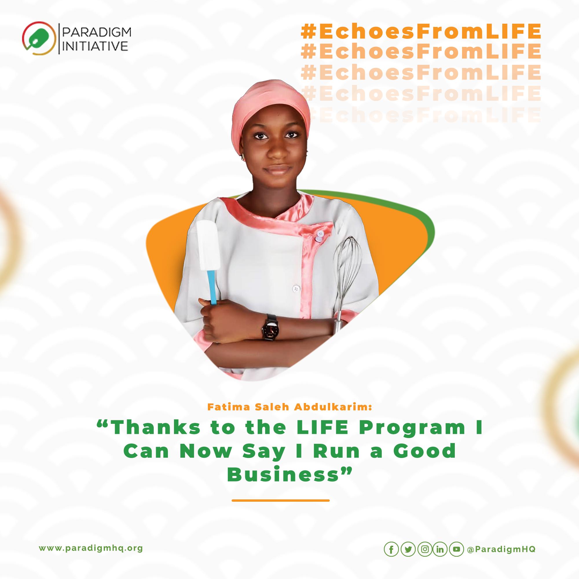 Fatima Saleh Abdulkarim: Thanks to the LIFE Program I Can Now Say I Run a Good Business.