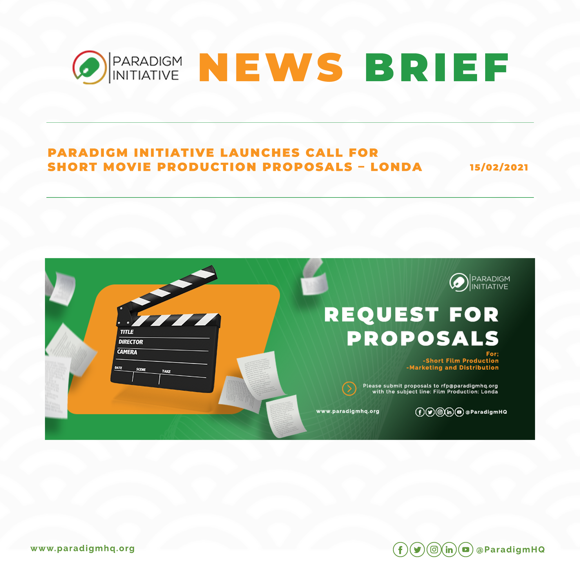 Paradigm Initiative Launches Call for Short Movie Production Proposals – LONDA