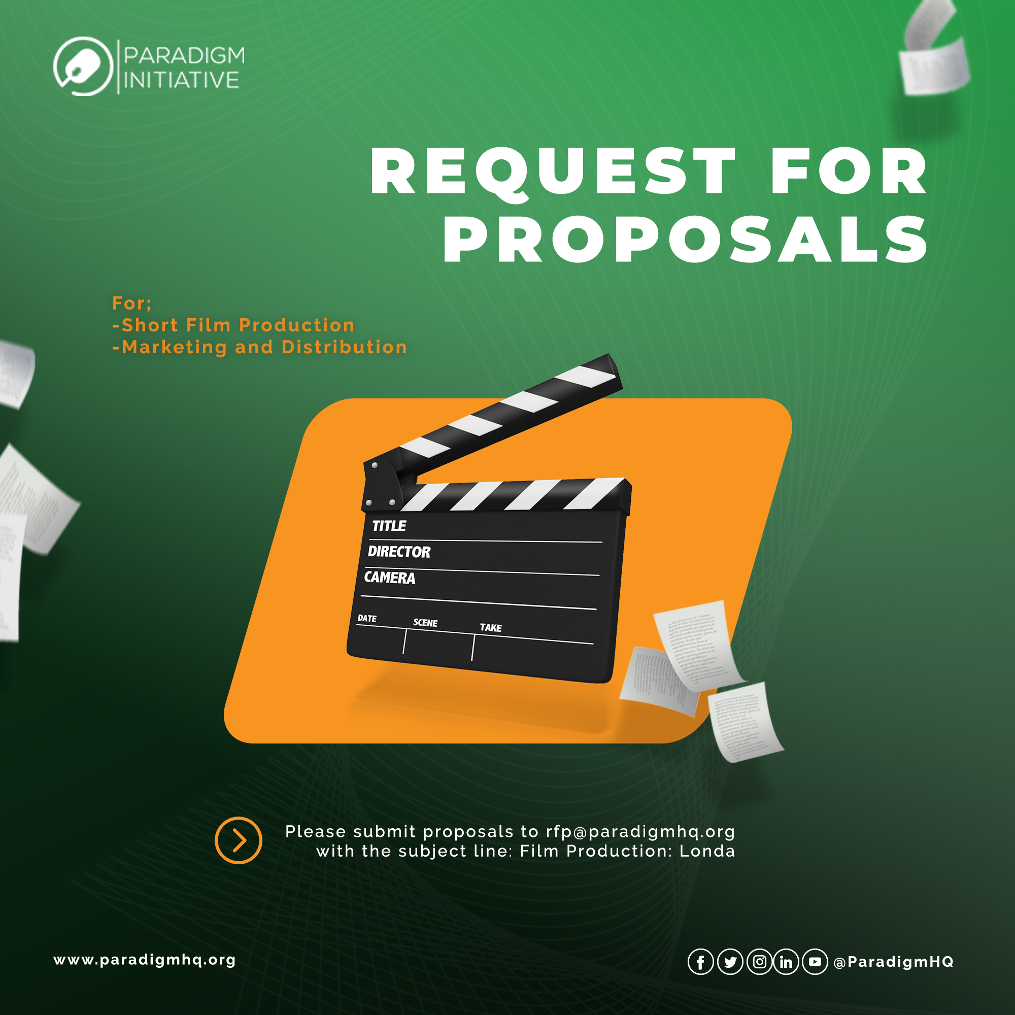 REQUEST FOR PROPOSAL: Production of a Short Film on the State of Digital Rights and Inclusion in Africa
