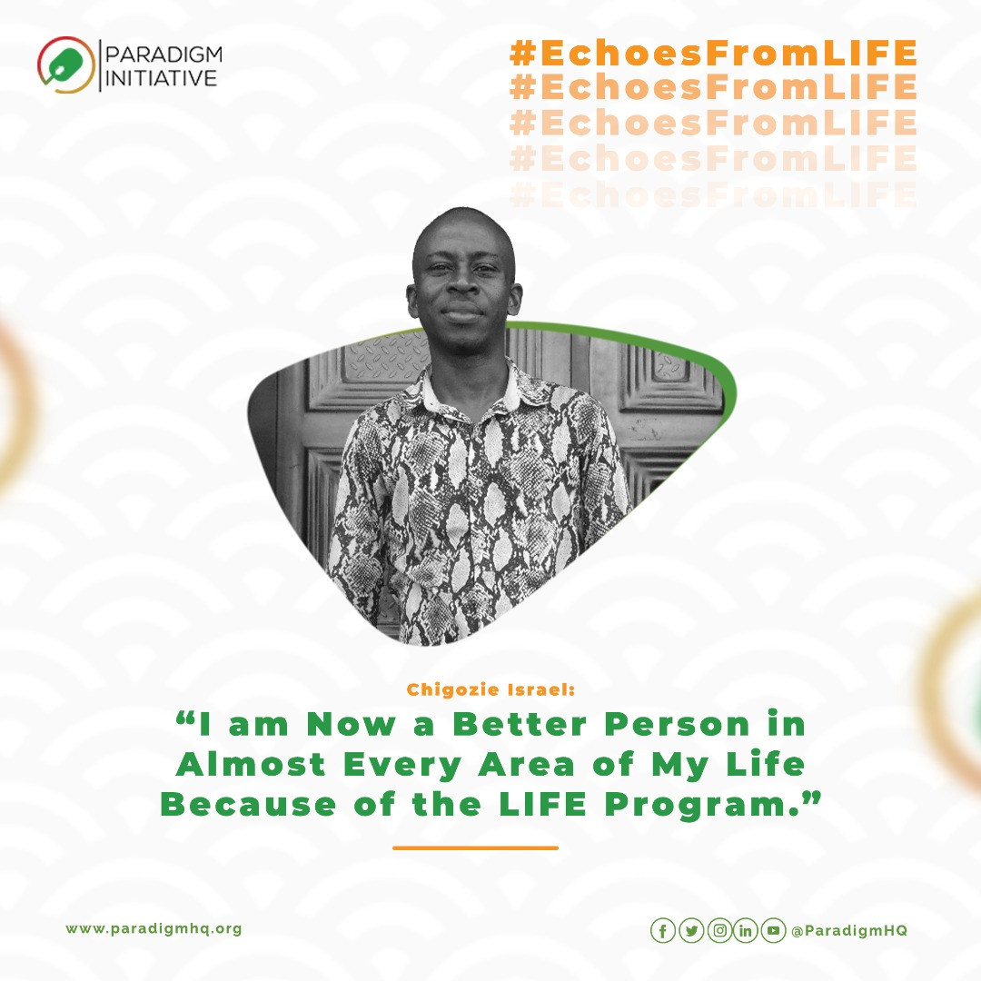 CHIGOZIE ISRAEL: I am Now a Better Person in Almost Every Area of My Life Because of the LIFE Program.